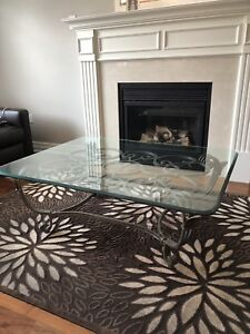 Solid iron coffee tables and end tables