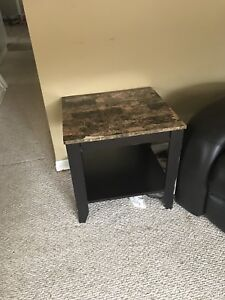 2 end tables and 2 TVs