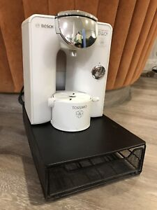 Bosch Tassimo coffee maker & rack