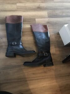 Call it Spring Leather Riding Boots size 7