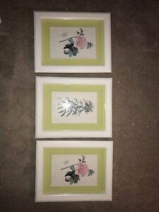 Set of 3 floral pictures