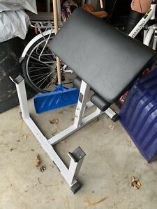 Preacher curl stand and seat