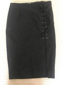 Black lace up skirt $10 - 8-10
