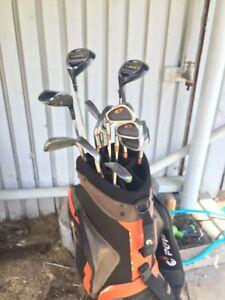 Nice full set of left handed golf clubs in bag
