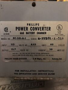 RV power converter and battery charger