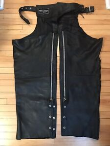 Cruiser by Sofari XXL leather lined motorcycle chaps