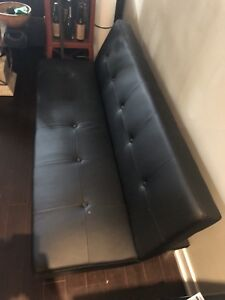 Faux leather couch/futon