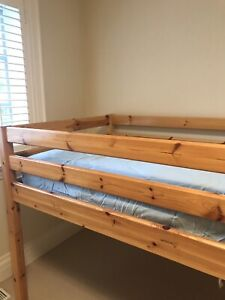 Flexa Loft bed made in France, solid wood, with ladder