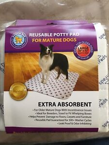 """POOCH PAD Reusable Potty Pad For Mature Dogs NEW Large 30""""X32"""""""