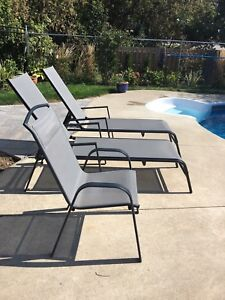 Patio chairs and loungers