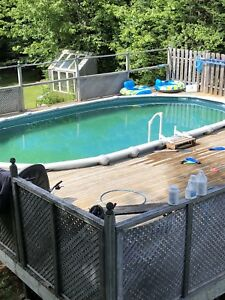 15 X 30 oval above ground pool