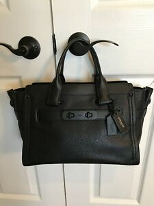 COACH Swagger Black Handbag