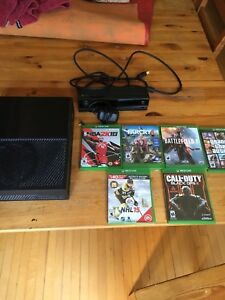XBOX one with six games and kinect