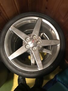 "OE C6 Rims 18"" Front 19""Rear with Toyo R888 tires"