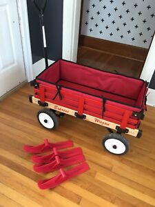 Millside Convertible Sleigh Wagon with Comfort Pad Set