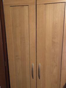 Frame maple finish cabinet