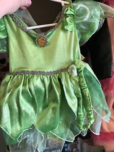 Tinker bell costume with headband & wings