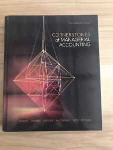 TEXTBOOK: Cornerstone of Managerial Accounting Third Edition