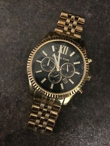 14k gold men's Michael Kors watch
