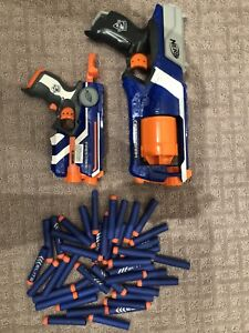 Set of 2 Nerf Shooters + Bullets