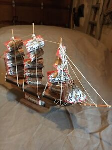 Budweiser Wood & Metal  Sail Boat