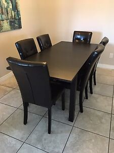 MOVING- Dark Brown Dining Set - Must Go Can Deliver