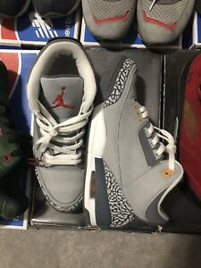 Men's Jordan cool grey 3 size 8.5