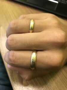 2 gold rings for sale -solid 14k