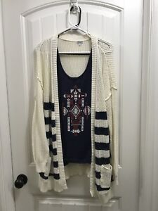 Cardigan and top for sale