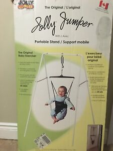 Jolly jumper baby exerciser with stand
