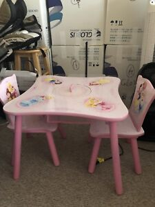 Princess table with two chairs!