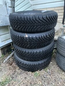 ALMOST NEW! Goodyear Nordic Winter Tires 195/70/R14