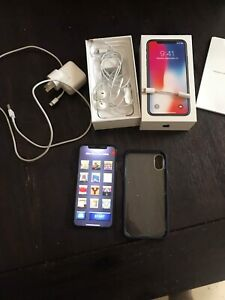 iPhone X 64gig plus box and charger perfect condition