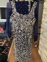 Navy blue Indian suit very heavy