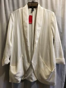 Forever 21 white career jacket/blazer size small woman's