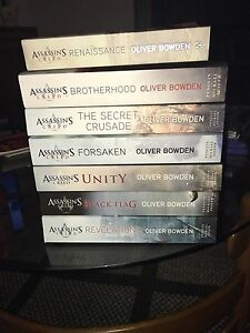 7 Assassins Creed Novels Books ($20each) Valley View Salisbury Area Preview