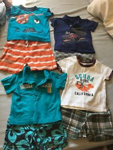 24 months and 2 T boys summer clothes