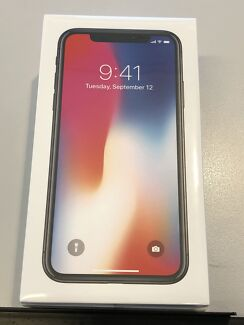 iPhone X 64GB Space Grey - brand new, sealed.