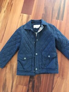 Unisex Navy quilted Burberry jacket size 8