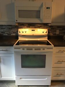 Stove and over the range microwave for sale