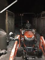 Snow blowing services