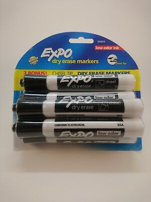 Expo Dry Erase Markers Black 6pack 071641145078
