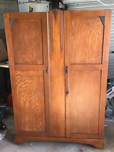 Solid timber wardrobe in original condition Beechmont Ipswich South Preview