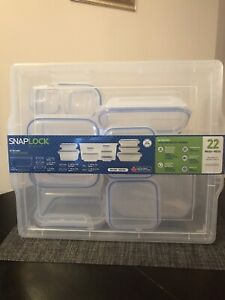 Snap lock containers (22 pieces)