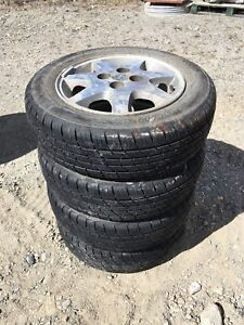 Set of 4 focus wheels and tires