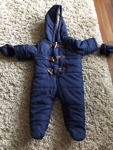Snow suit baby boys 6-9 months