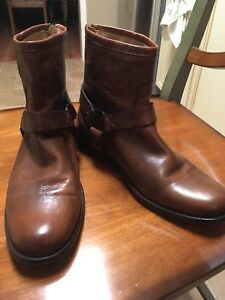 Frye Leather Boots -Phillip Harness Short Size 9