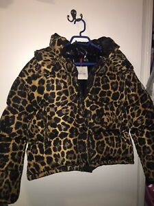 Leopard print Moncler Designer Winter jacket! GREAT PRICE!