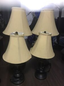 Set of 4 Working Lamps with Shades