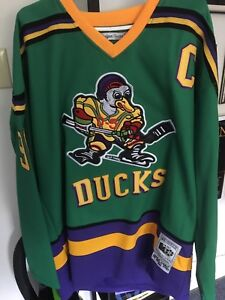 Mighty ducks movie authentic jersey
